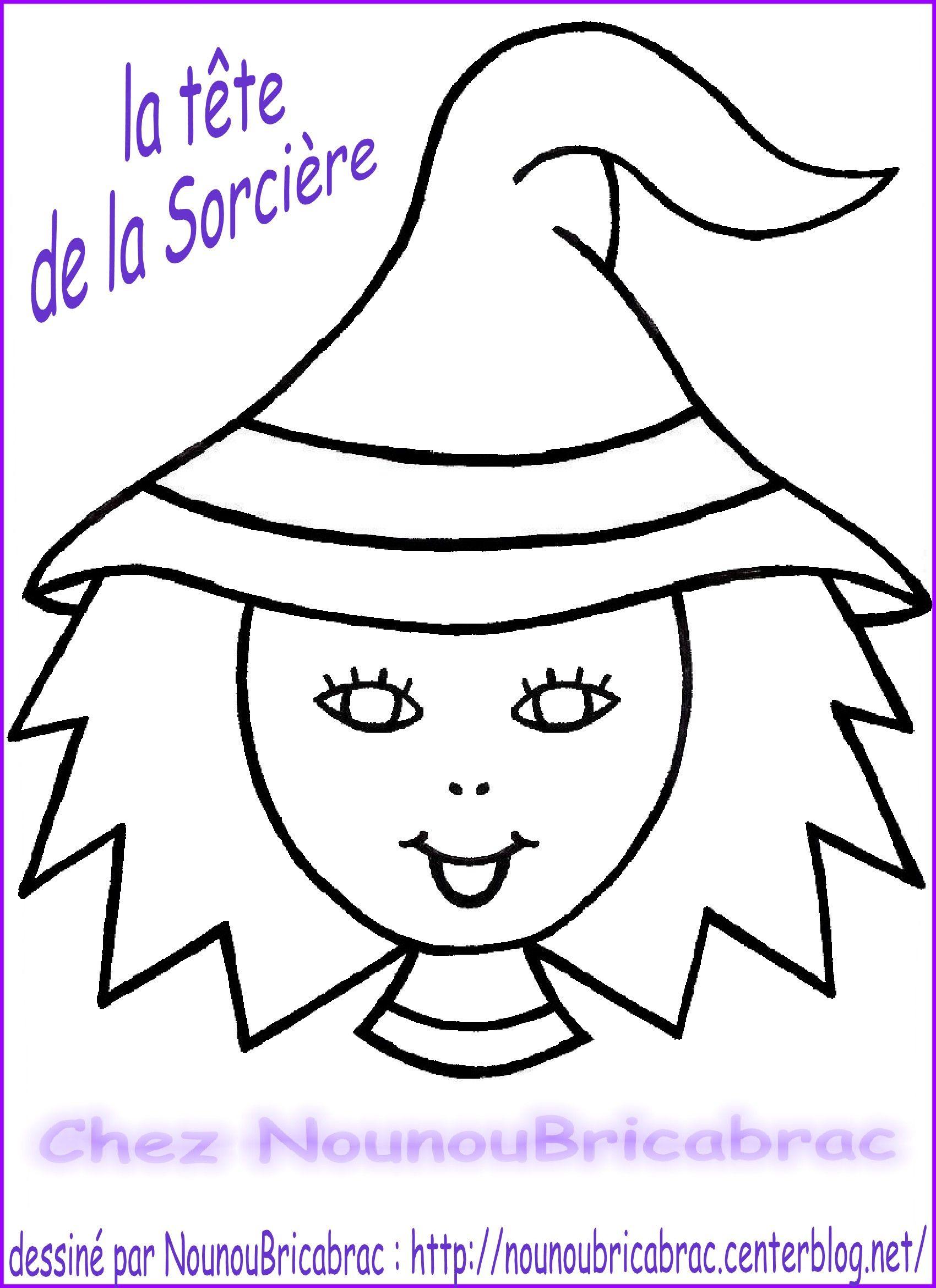 Marionnette : Sorcière d'Halloween... La Tête réalisée par Nounoubricabrac