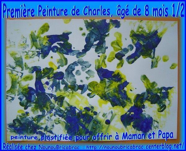 Première Peinture de Charles... 8 mois 1/2