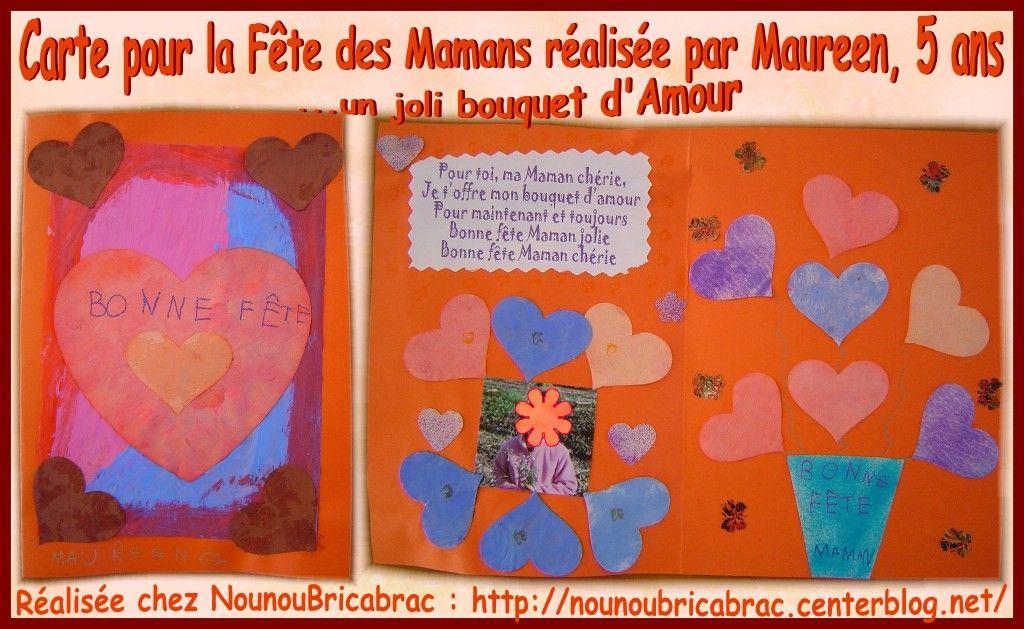 Carte pour la fête des Mamans... réalisée par Maureen