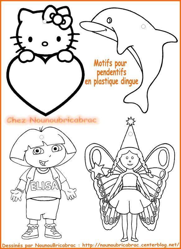 Motifs pour pendentifs en plastique dingue *1* Dora...
