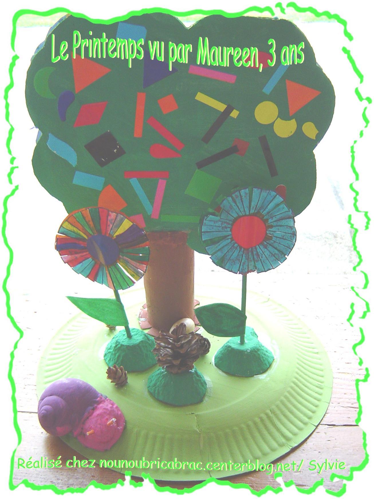 Petit Décor Printanier... réalisé par Maureen, 3 ans