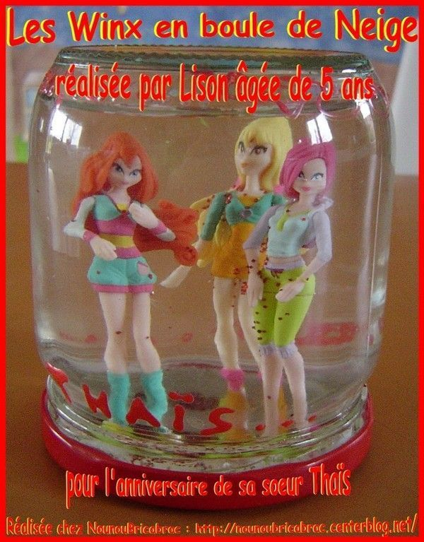 Boule de Neige Winx... ralise par Lison, 5 ans