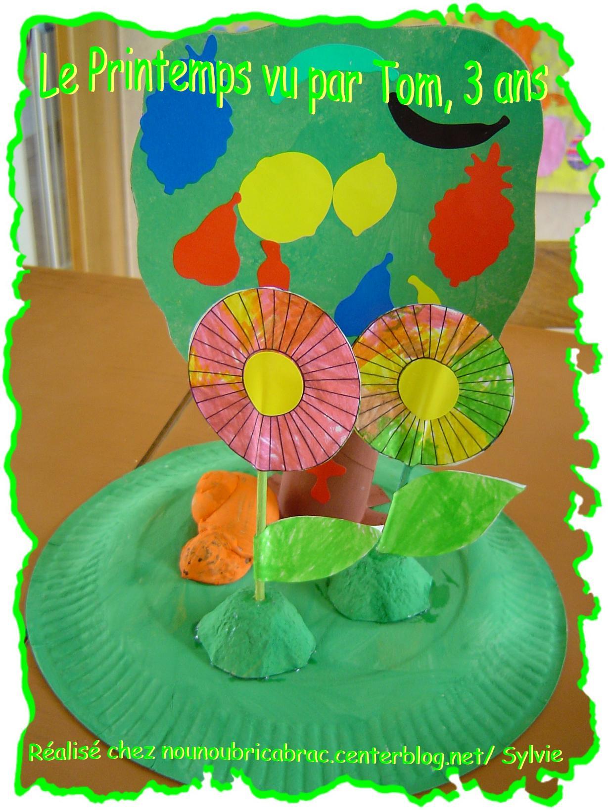 Petit Décor Printanier... réalisé par Tom, 3 ans