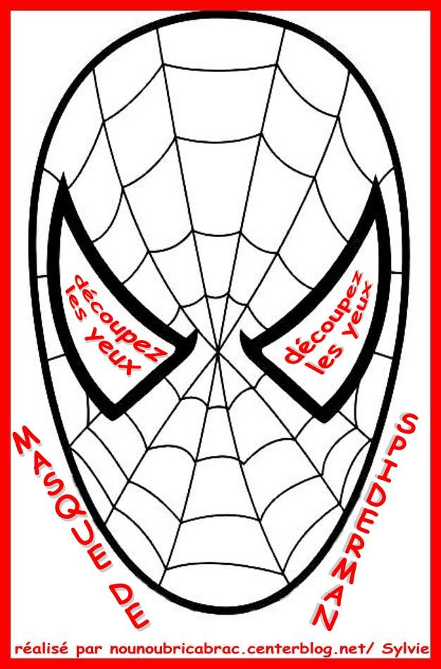 Spiderman masque colorier et d couper - Masque spiderman a imprimer ...