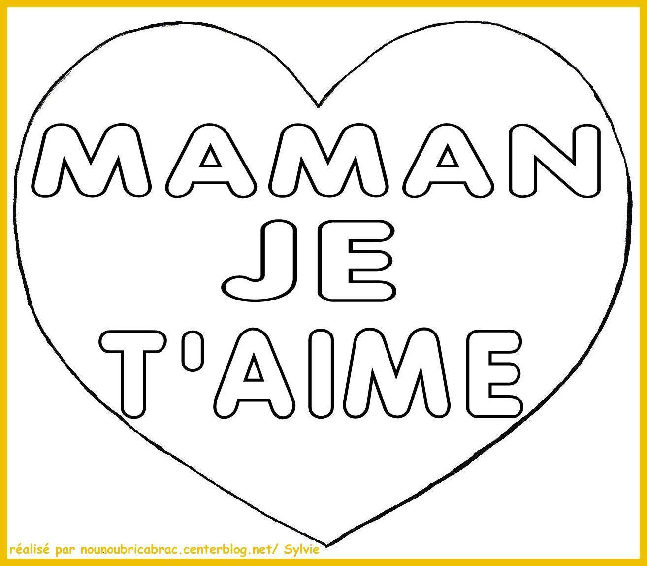 Coeur écrit... Maman Je t'Aime