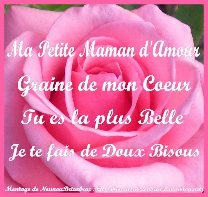 Ma Petite Maman Damour Petit Poème