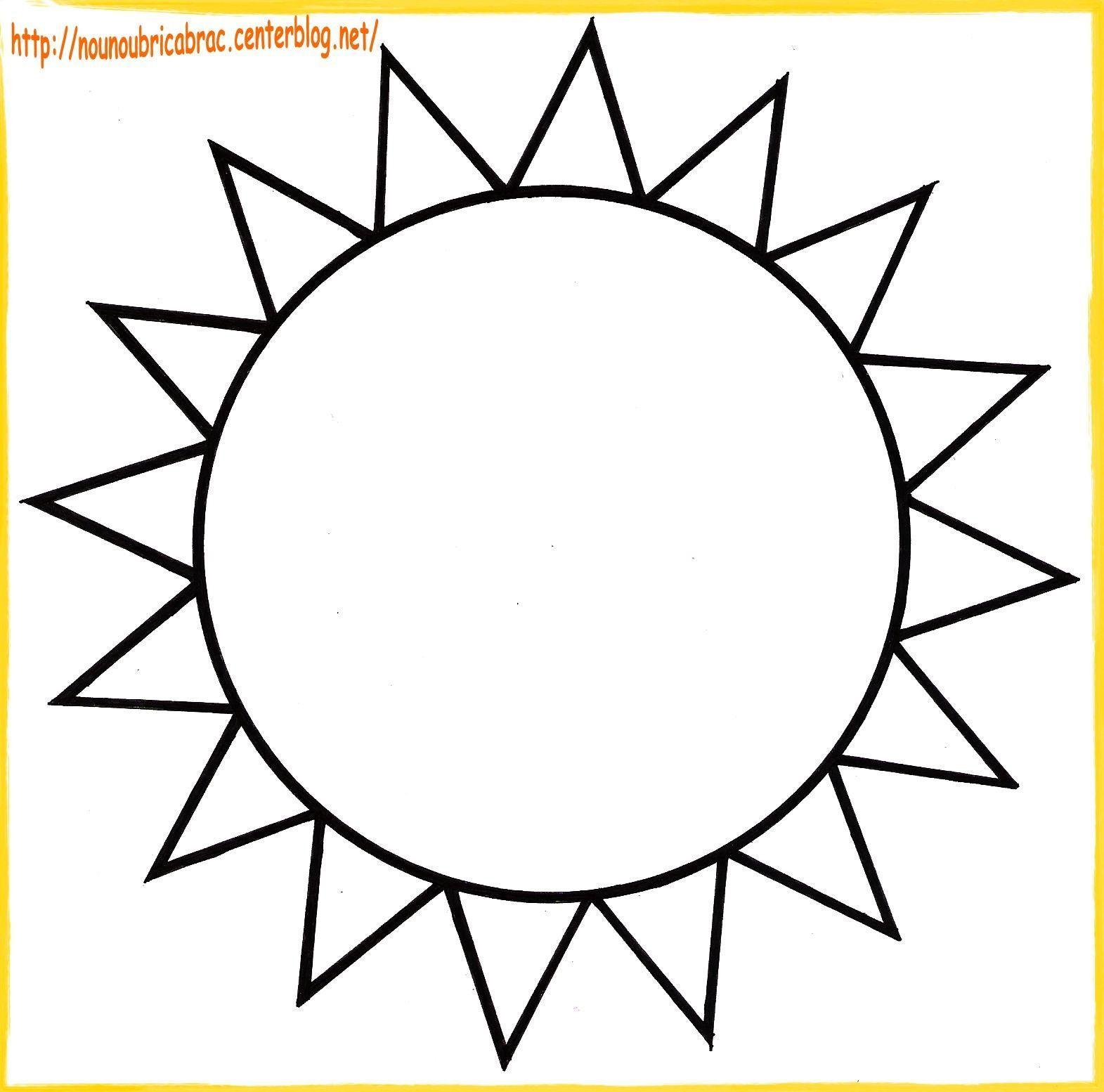 Soleil... à colorier
