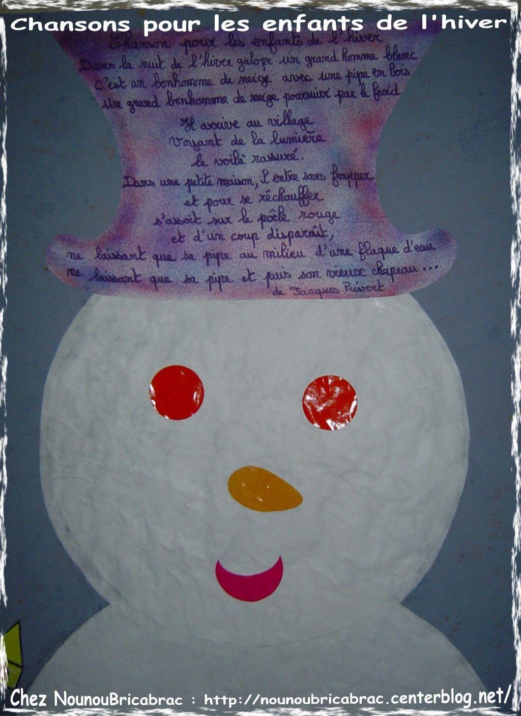 Chanson pour les enfants de l'hiver... poésie ou formulette