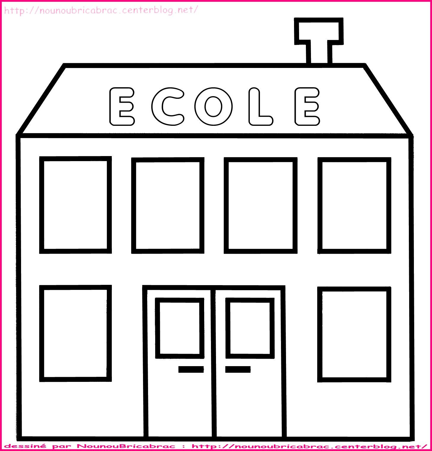 Populaire Ecole à colorier - dessin facile d'ecole RI78