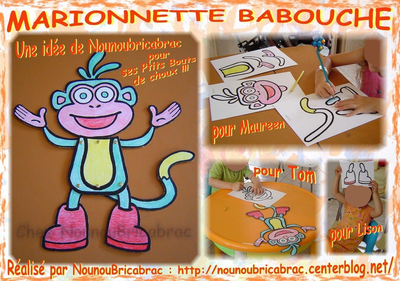 Marionnette Babouche... une nouvelle marionnette que je viens de créer !!!