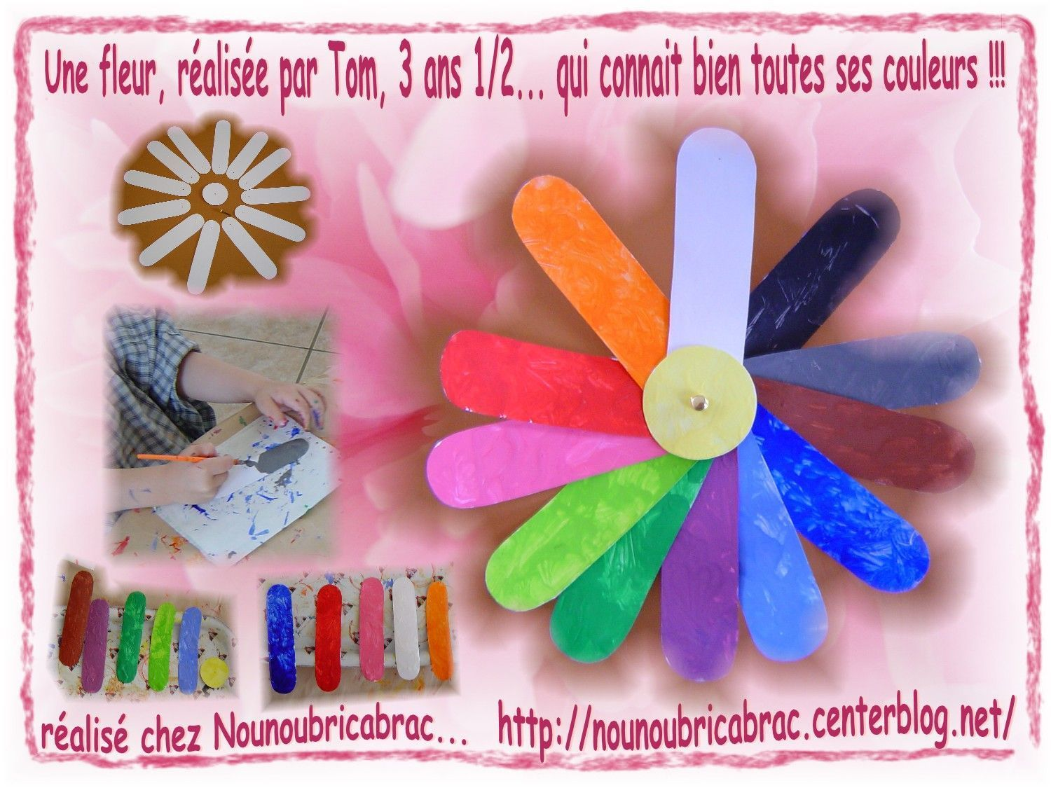 Une fleur pour apprendre les couleurs... ralise par Tom, 3 ans 1/2