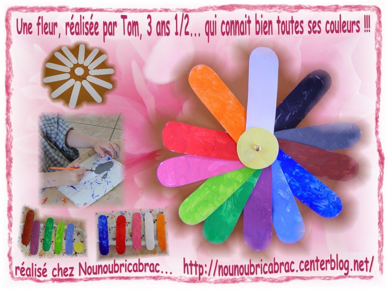Une fleur pour apprendre les couleurs... réalisée par Tom, 3 ans 1/2