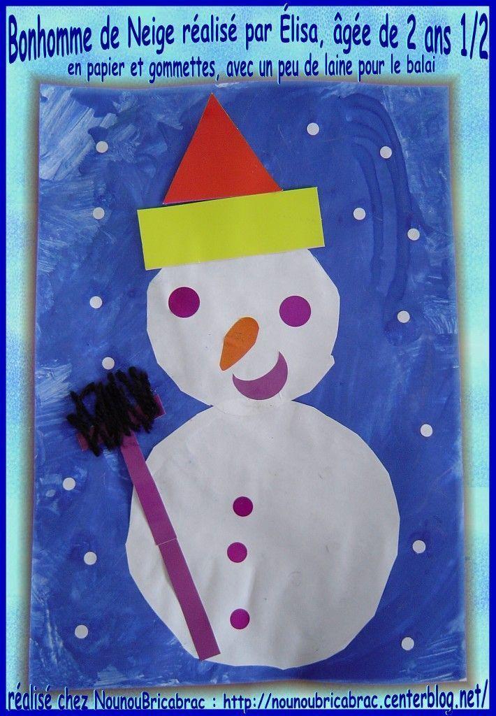 Bonhomme de Neige... réalisé par Élisa, âgée de 2 ans 1/2