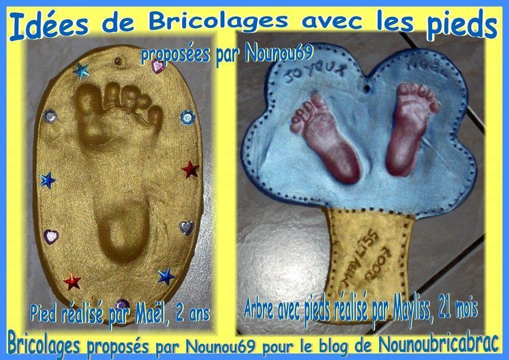 Idées de bricolages avec les pieds... proposées par Nounou69