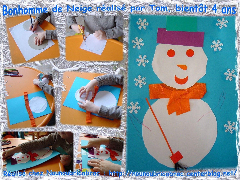 Bonhomme de Neige... expliqué et réalisé par Tom, bientôt 4 ans