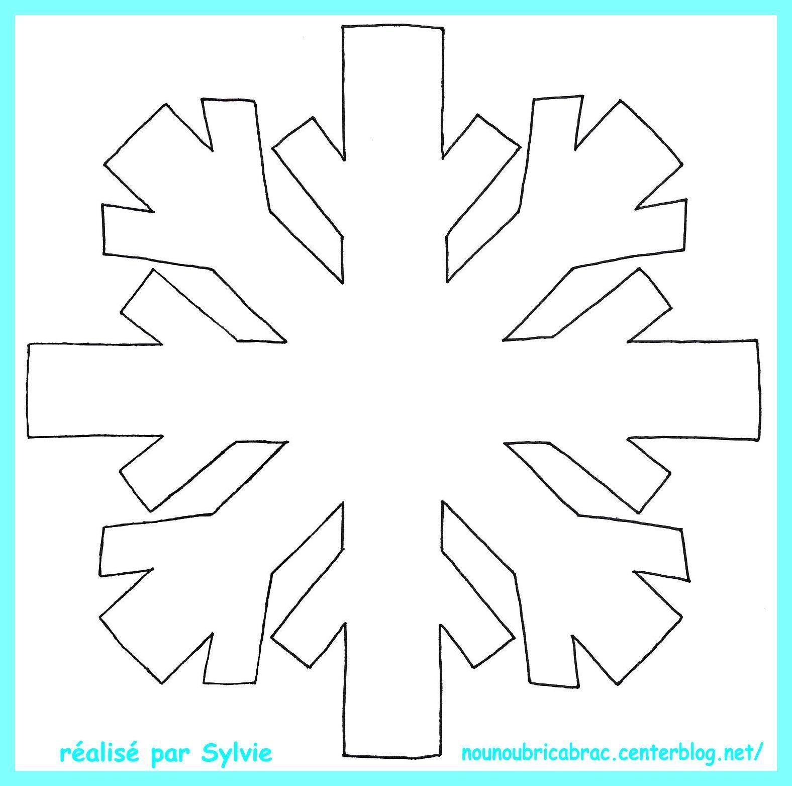 Flocon de neige colorier - Flocon de neige a colorier ...