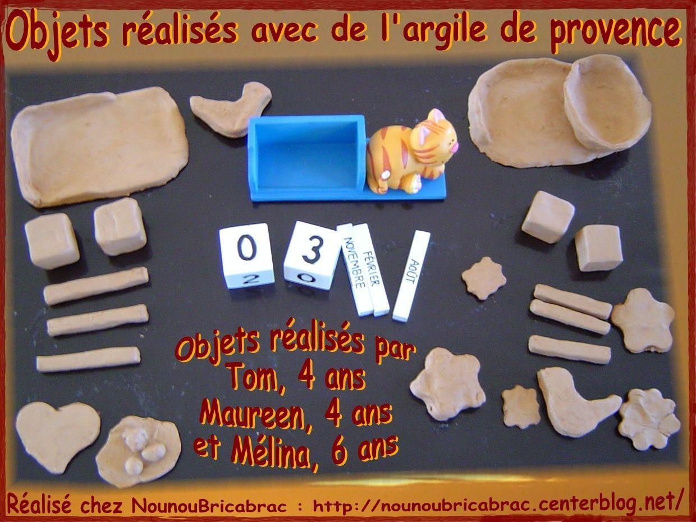Objets réalisés avec de l'argile de provence... par Tom, Maureen et Mélina