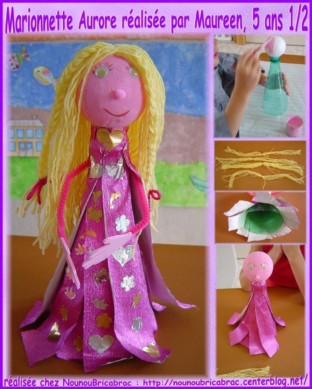 Marionnette *Aurore* ralise par Maureen, 5 ans 1/2