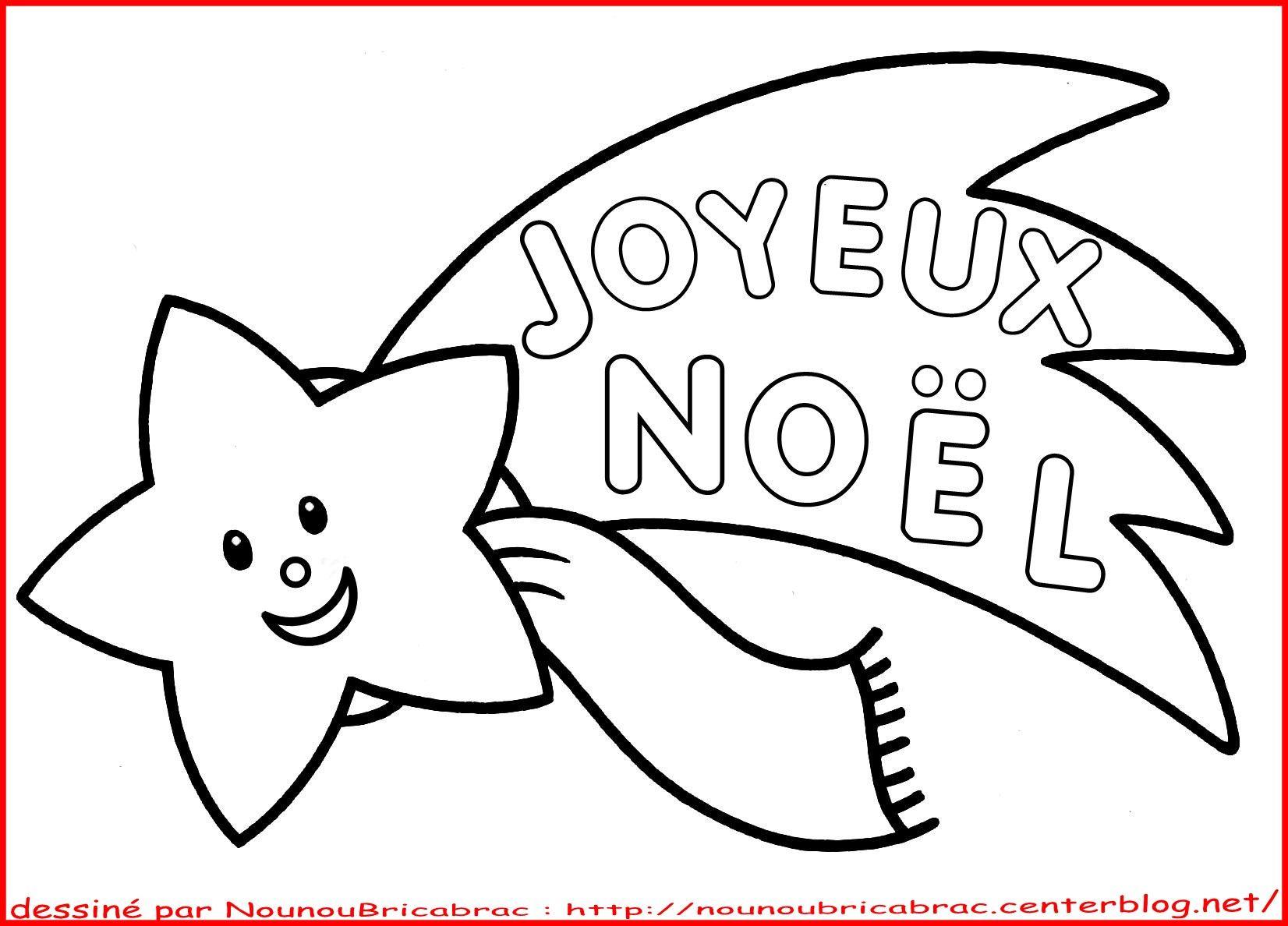 Etoile filante joyeux no l colorier dessin de noel facile - Dessin joyeux noel ...