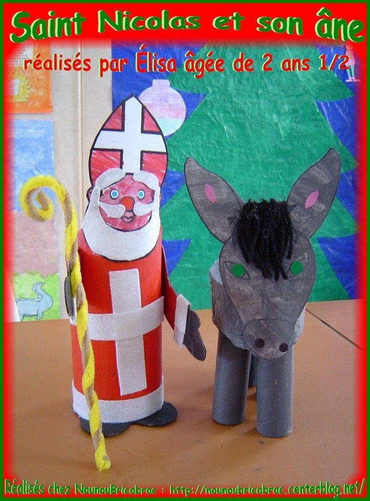 Saint Nicolas et son âne... réalisés par Élisa, 2 ans 1/2