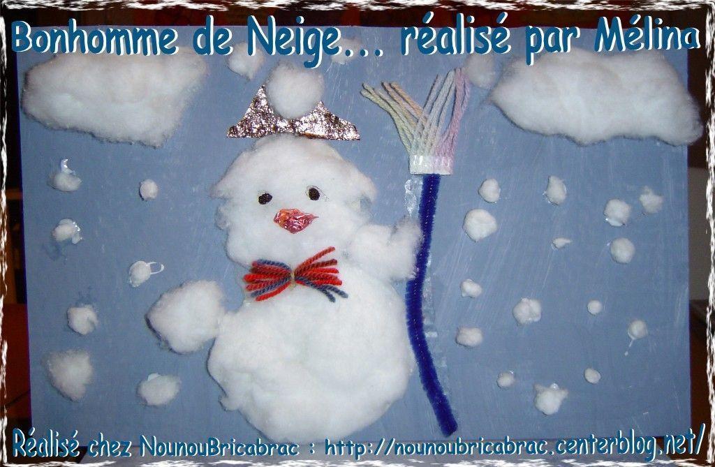Bonhomme de Neige réalisé par Mélina