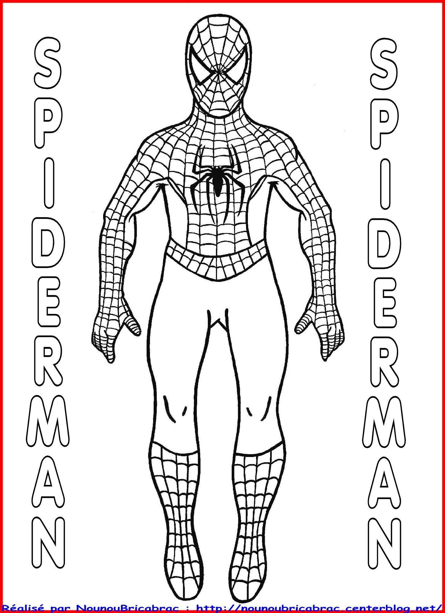Spiderman... à colorier