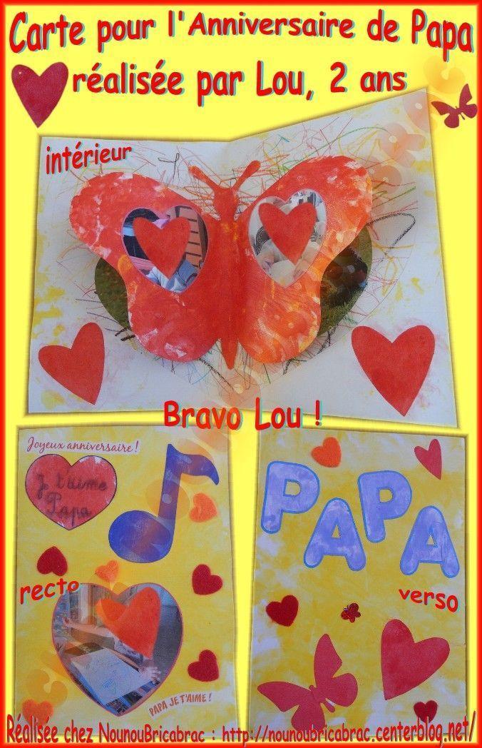 Carte 3d Pour Lanniversaire De Papa Lou 2 Ans