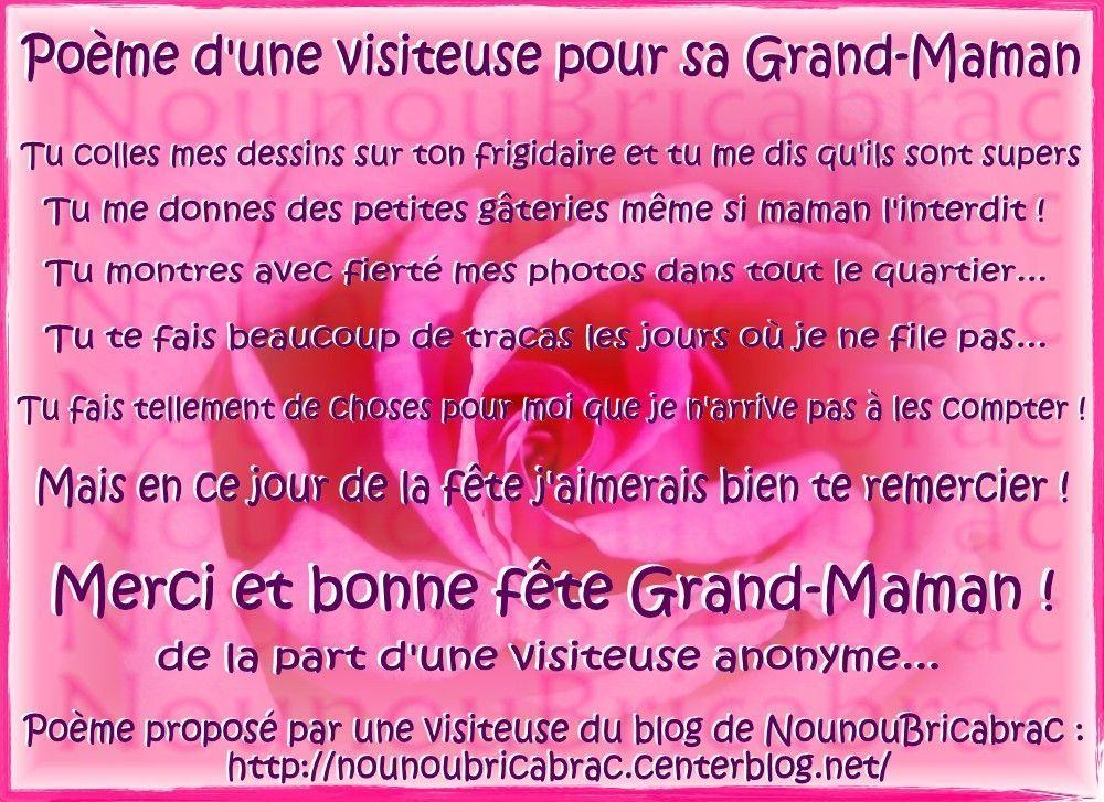 Poème Dune Visiteuse Pour Sa Grand Mère