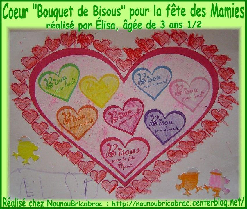 Coeur Bouquet De Bisous Pour La Mamie Délisa