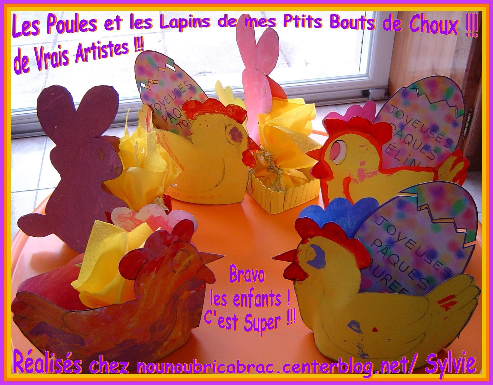 Lapins - Poules de mes Ptits Bouts de Choux...