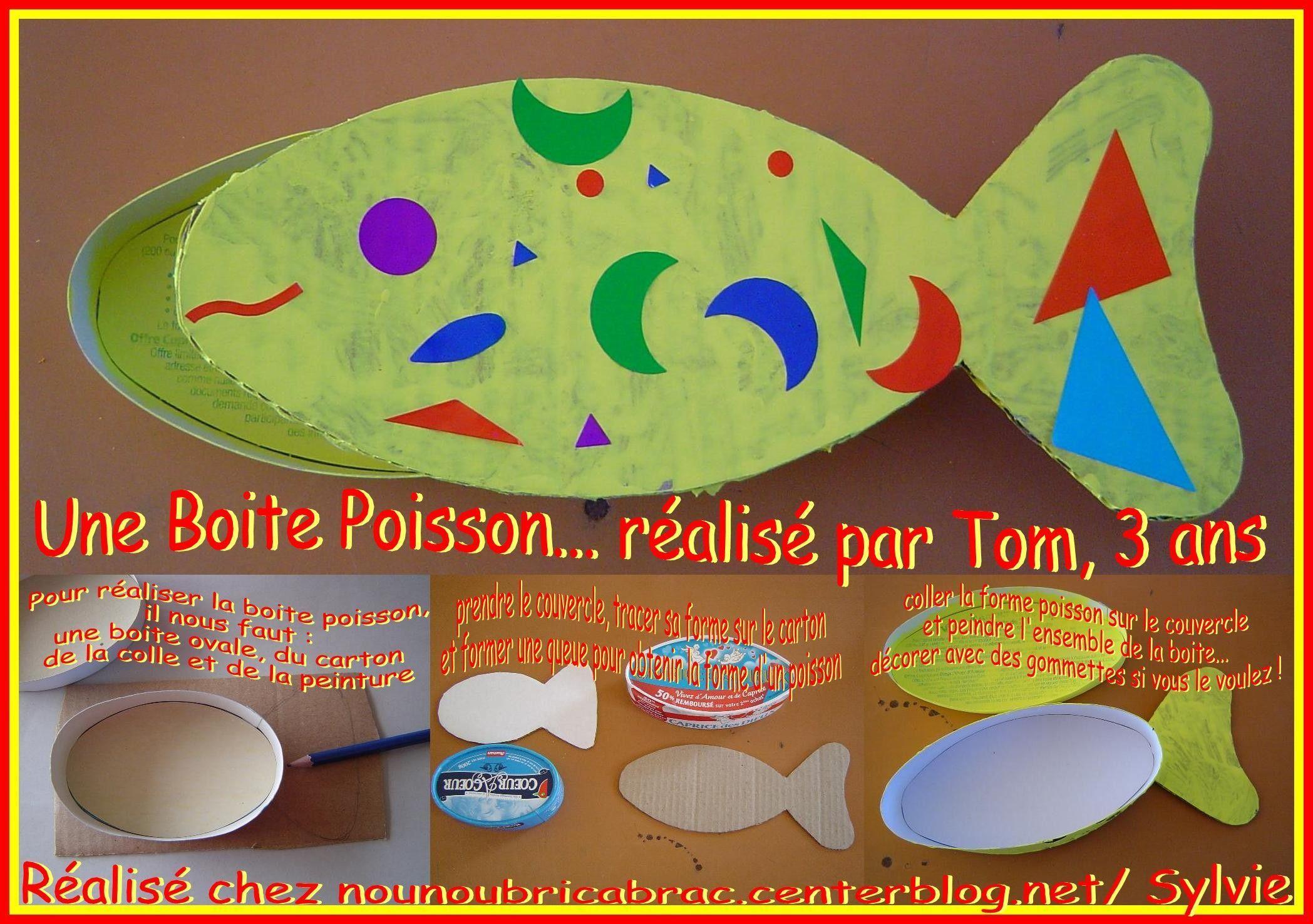 Boite Poisson... très simple à réaliser !!!
