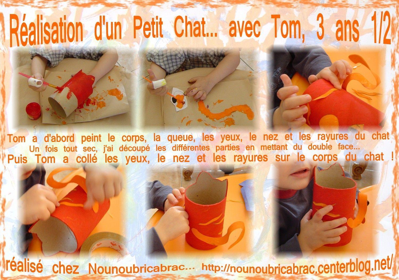 Chat Porte-Crayons... 1ère étape, réalisé par Tom, 3 ans 1/2