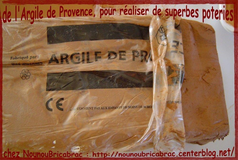 Argile de provence... pour réaliser de jolis objets