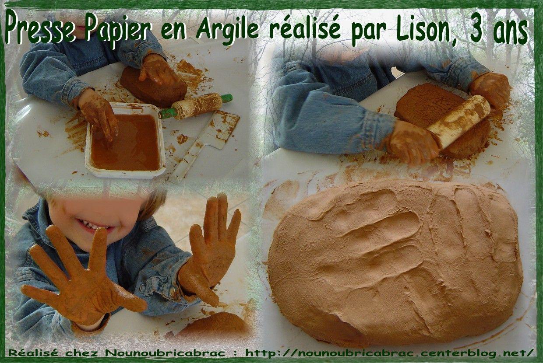 Presse Papier en Argile réalisé par Lison, 3 ans
