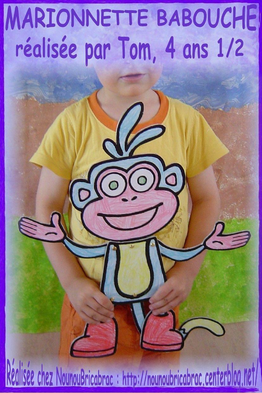 Marionnette Babouche... réalisée par Tom
