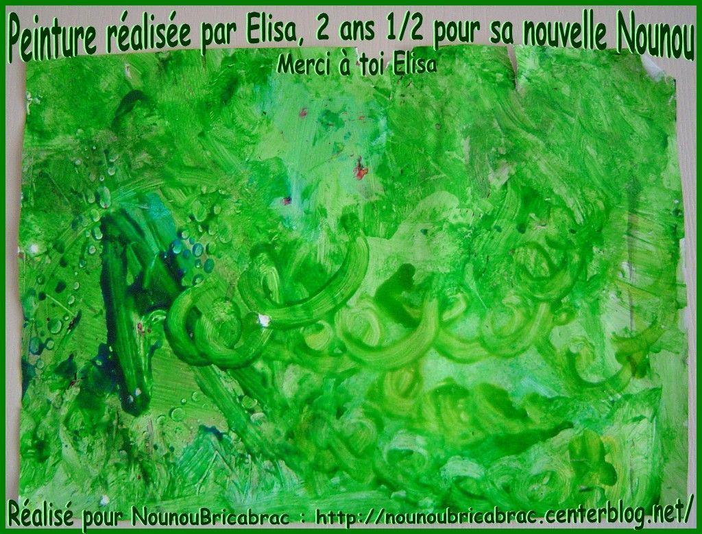 Peinture réalisée par Elisa âgée de 2 ans 1/2... pour sa Nounou