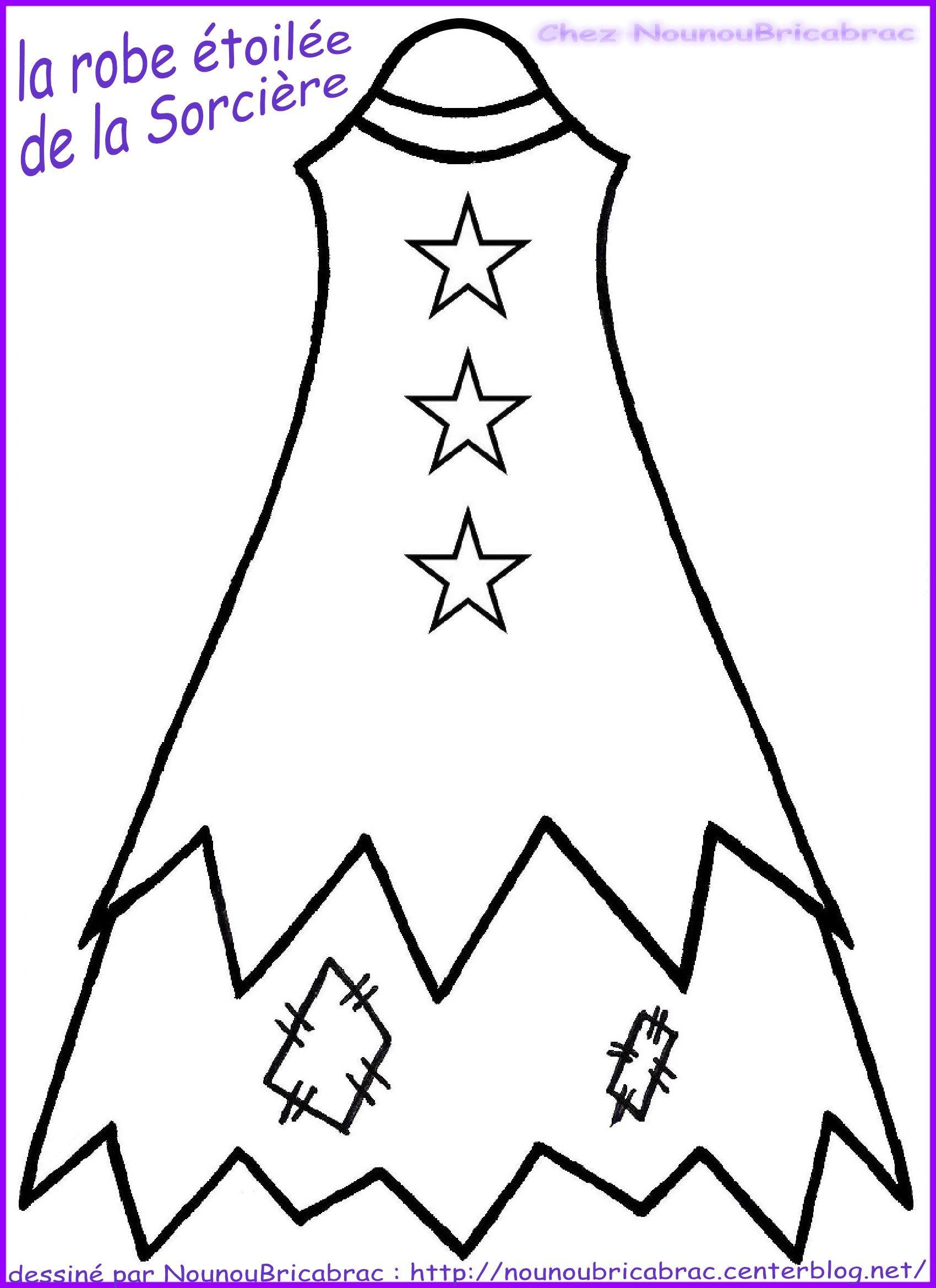 Marionnette : Sorcière d'Halloween... La Robe Étoilée réalisée par Nounoubricabrac
