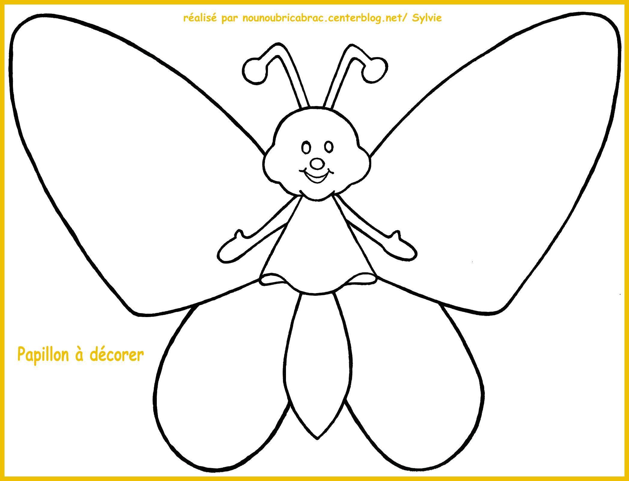 Coloriages animaux page 5 - Dessiner un papillon ...