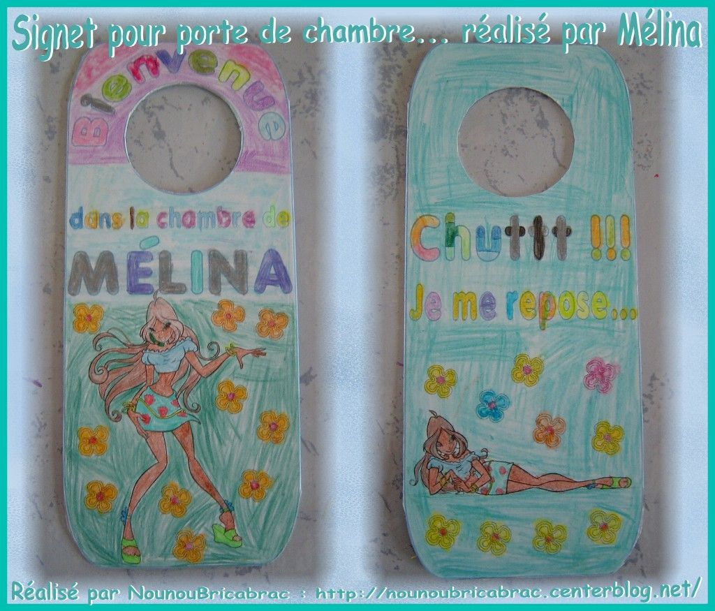 Signet de porte *Wins, Flora* pour chambre de Mlina ralis par Mlina