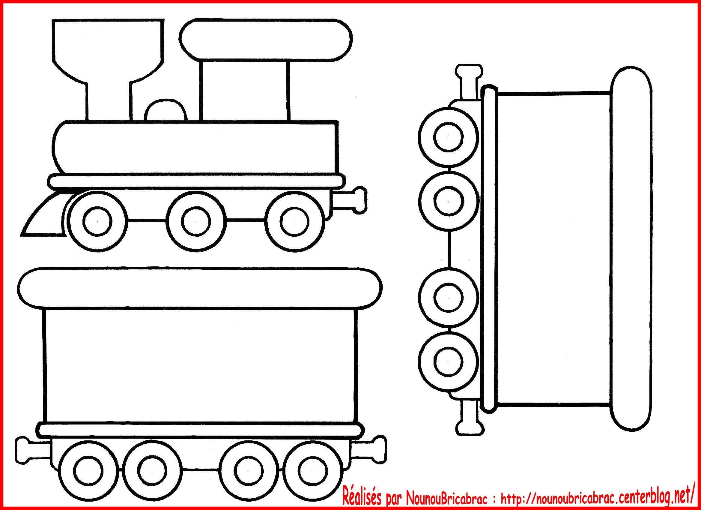 Locomotive et wagons... à colorier et pour illustrer des comptines