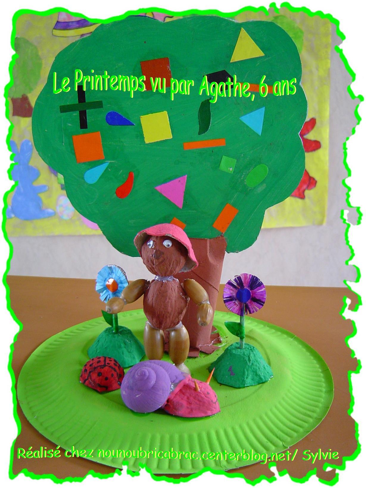 Petit Décor Printanier... réalisé par Agathe, 6 ans