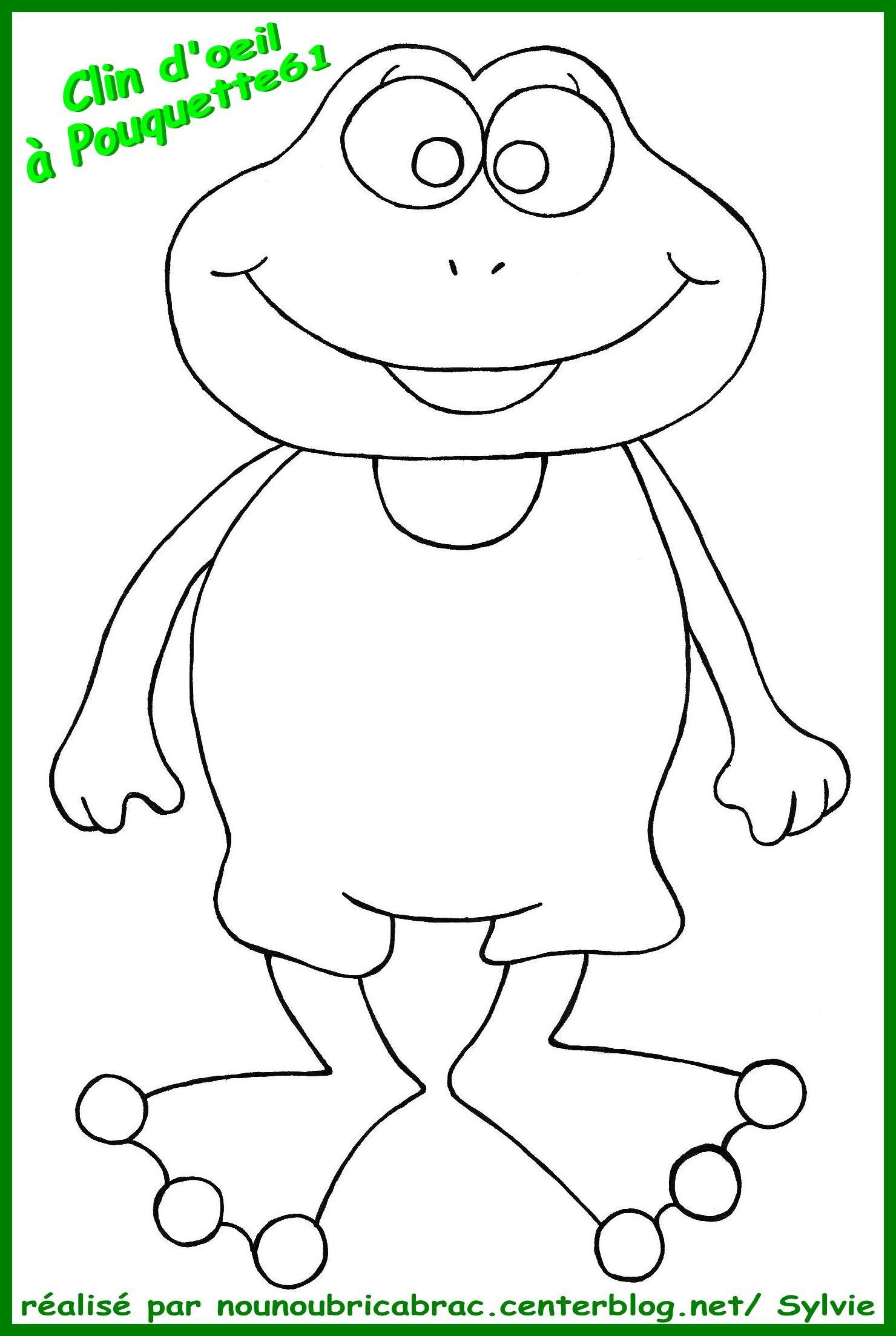 Grenouille heureuse colorier - Grenouille a colorier ...