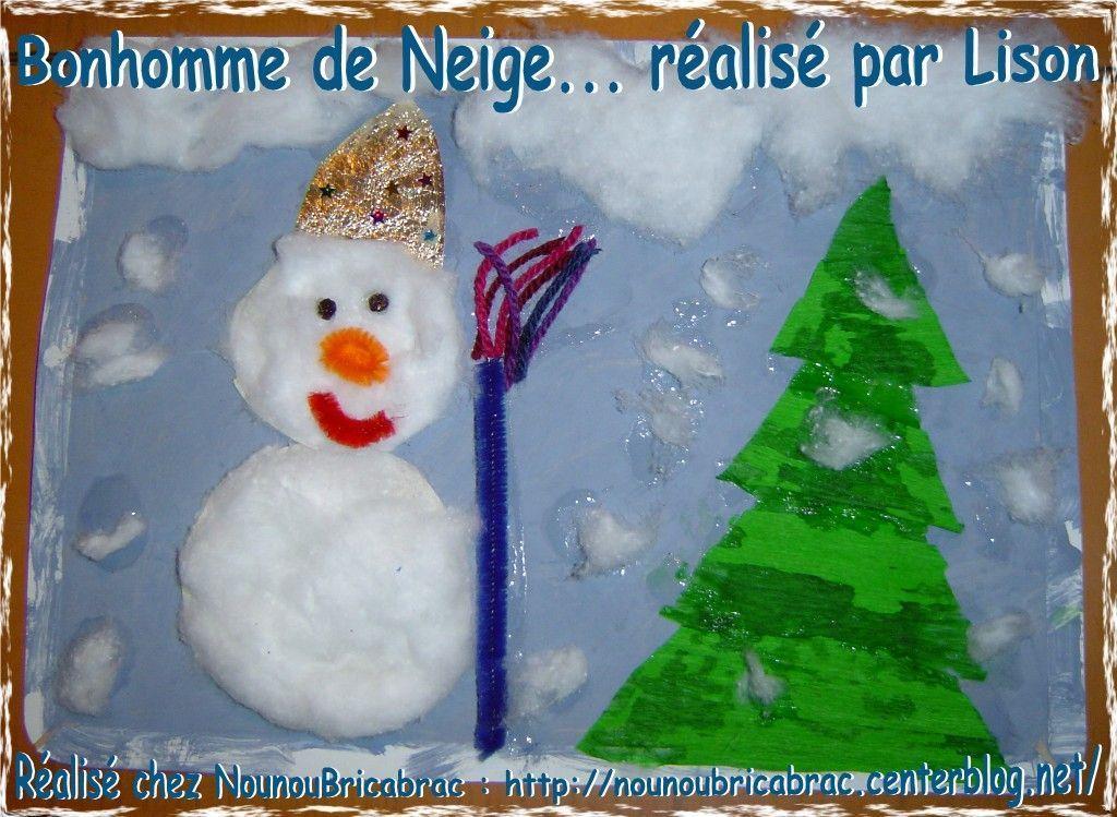 Bonhomme de Neige réalisé par Lison