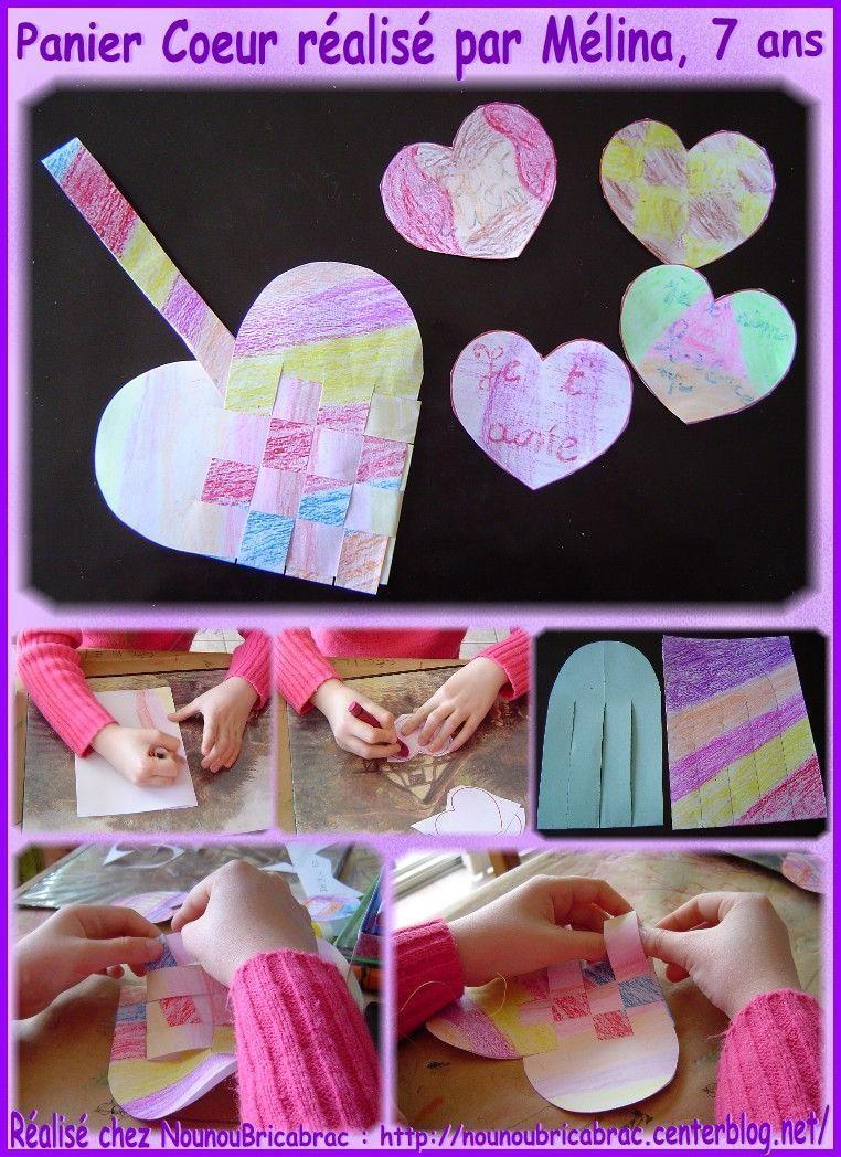 Panier Coeur réalisé par Mélina, 7 ans