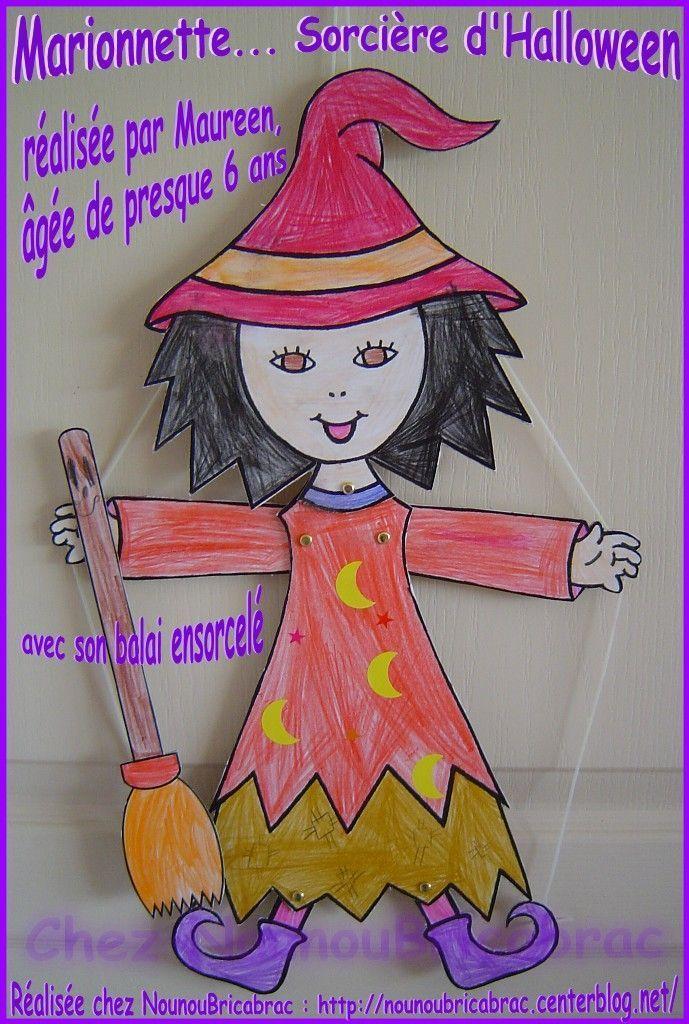 Marionnette, Sorcière d'Halloween... réalisée par Maureen