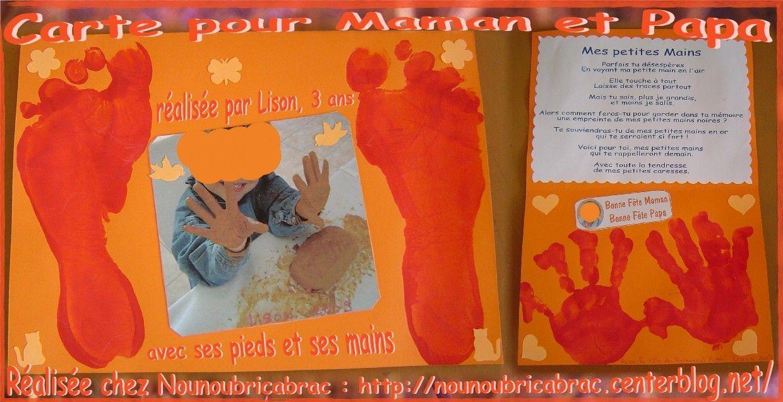 Carte pour Maman et Papa... réalisée par Lison, 3 ans