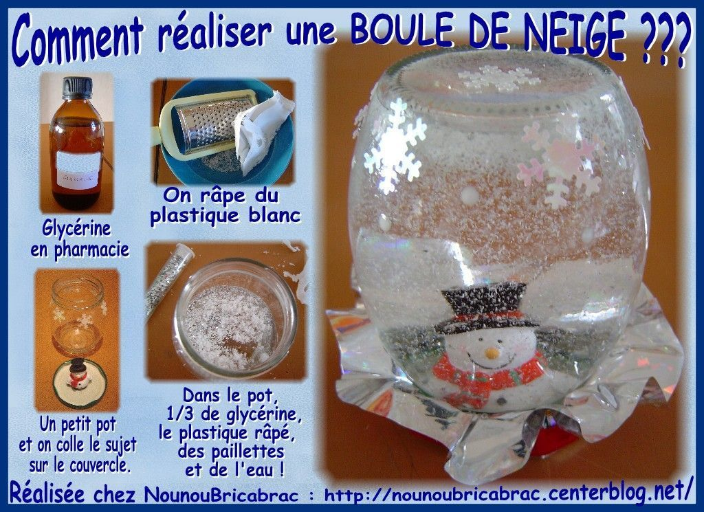 boule de neige pour no l par quoi remplacer la glycerine. Black Bedroom Furniture Sets. Home Design Ideas