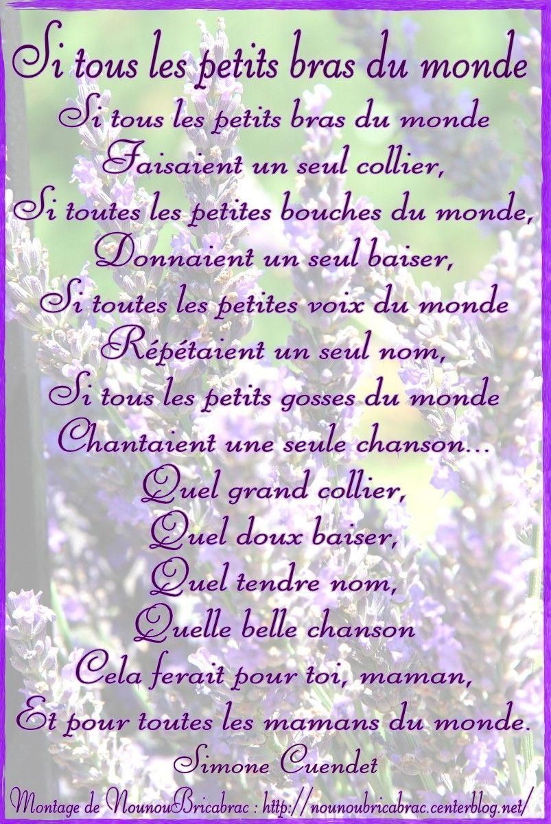 Poemes pour les mamans page 2 - Quelle est la date de la fete des meres ...