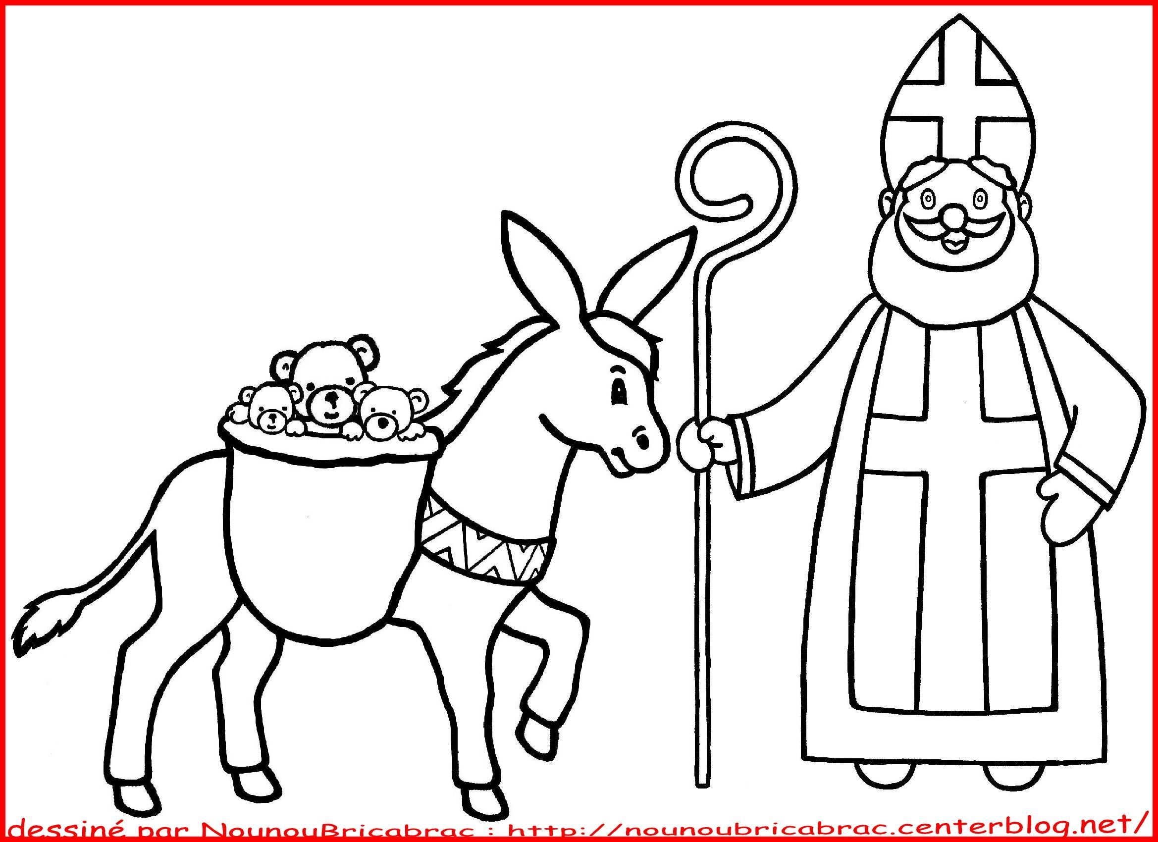 Coloriages saint nicolas - Coloriage de saint nicolas ...