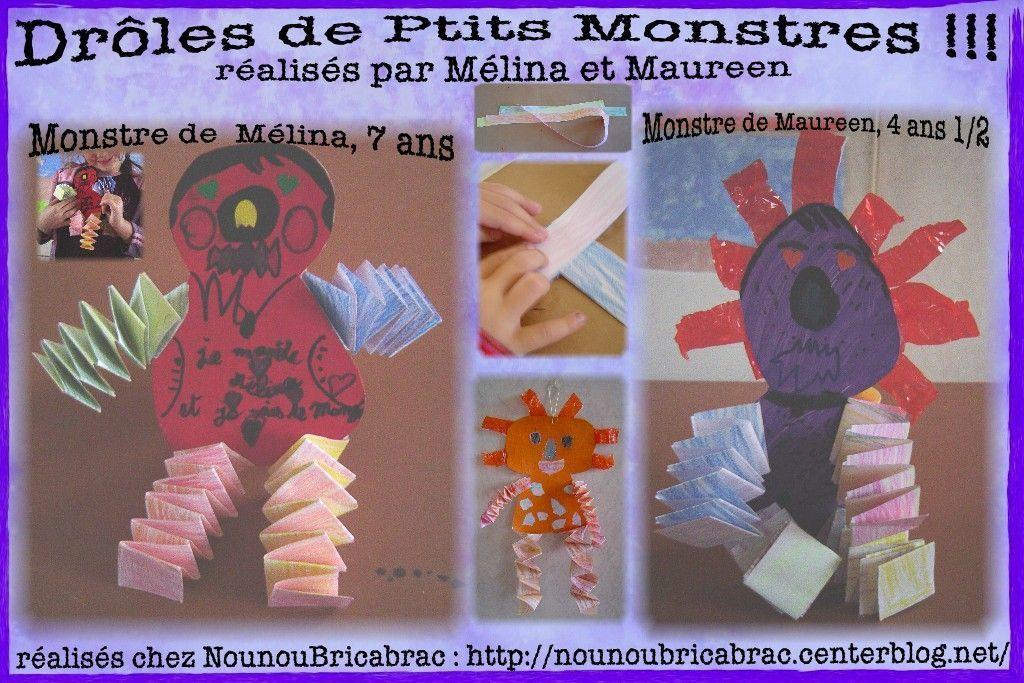Drôles de Ptits Monstres... réalisés par Mélina et Maureen